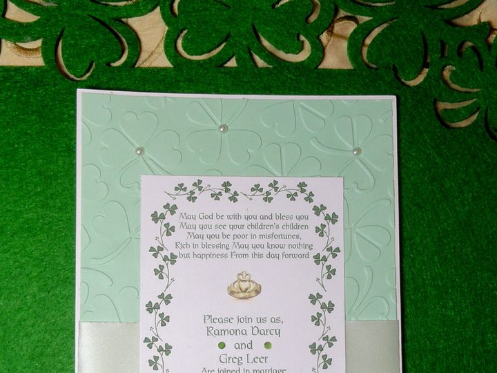 Tmx 1393949456342 Celtic Embossed Invit 2 South Berwick wedding invitation