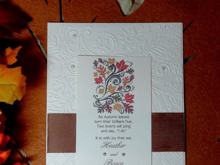 Tmx 1393949464053 Fall Embossed 1b   Cop South Berwick wedding invitation