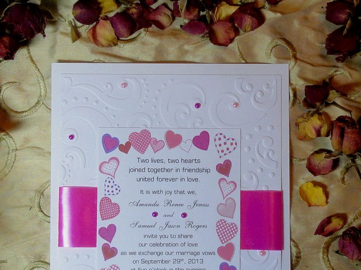 Tmx 1393949471231 Hearts Embossed 1 South Berwick wedding invitation
