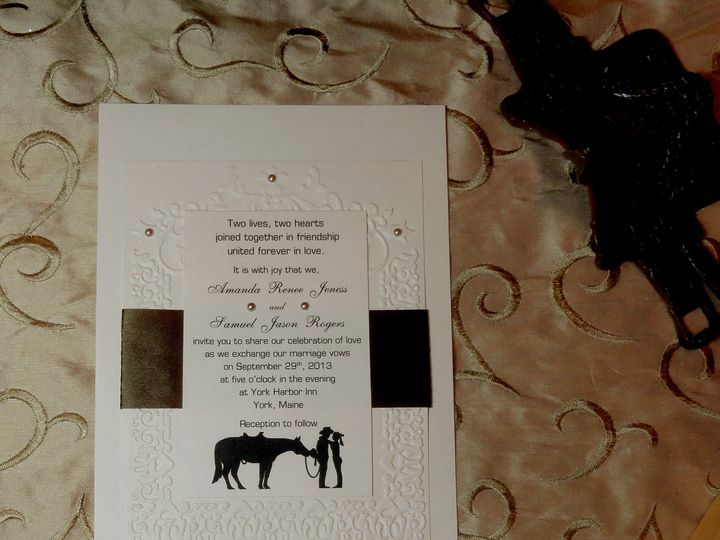 Tmx 1393949517499 Western Embossed 2 South Berwick wedding invitation