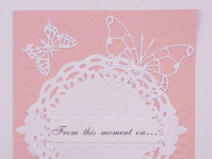 Tmx 1393949828474 Butterflies On Pink Fron South Berwick wedding invitation