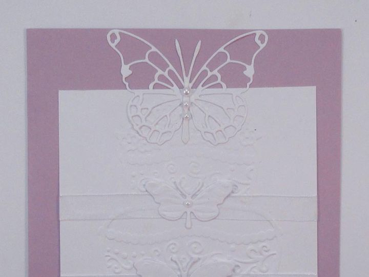 Tmx 1393949854140 Butterfly Wedding Cake On Purpl South Berwick wedding invitation