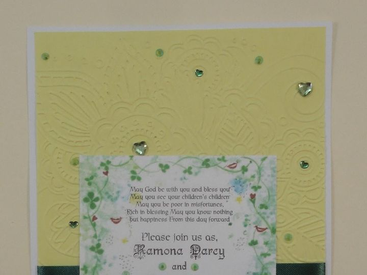 Tmx 1393949874326 Celtic Smiles On Yello South Berwick wedding invitation