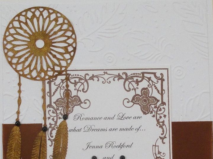 Tmx 1393949888106 Dreamcatcher Brown Vine Borde South Berwick wedding invitation