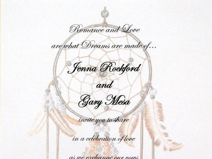 Tmx 1393949922035 Dreamcatcher Printe South Berwick wedding invitation