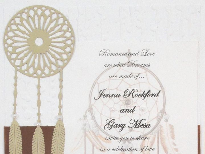 Tmx 1393949929985 Dreamcatcher Printed And Tan Brown Ribbo South Berwick wedding invitation