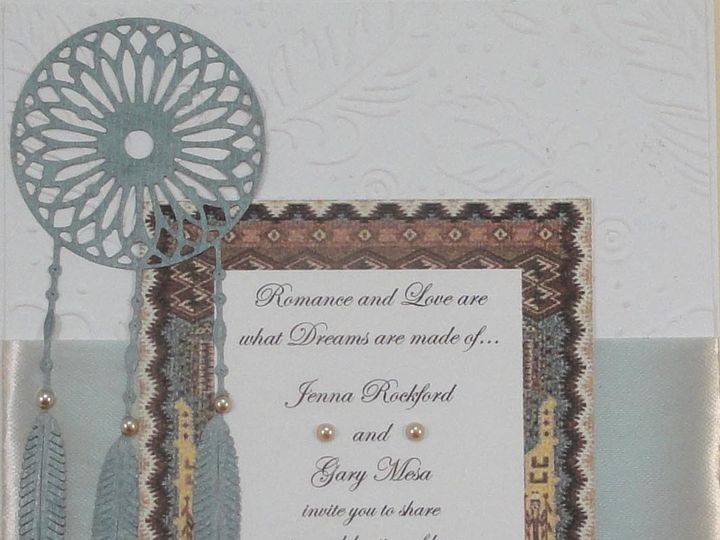 Tmx 1393949938307 Dreamcatcher Silver Ribbo South Berwick wedding invitation