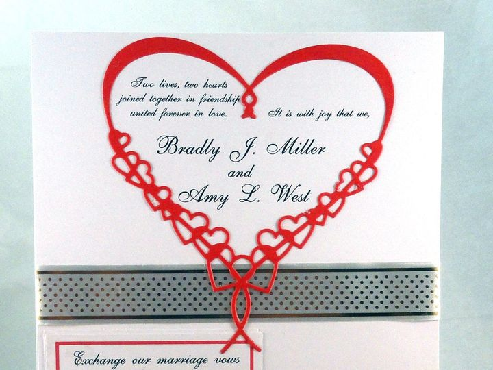 Tmx 1393950130879 Red Heart Red Mini Rsv South Berwick wedding invitation