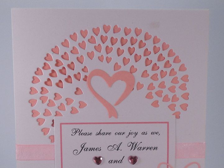 Tmx 1393950229334 Hearts Pink Pink Ribbo South Berwick wedding invitation