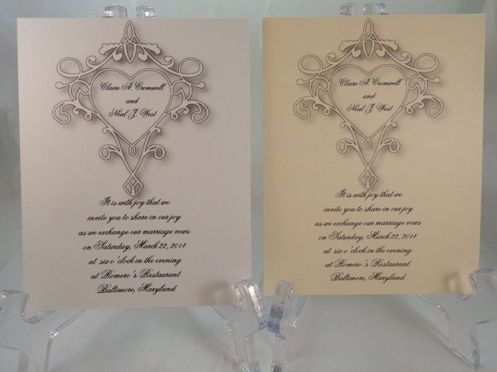 Tmx 1393950518619 Heart Scroll South Berwick wedding invitation