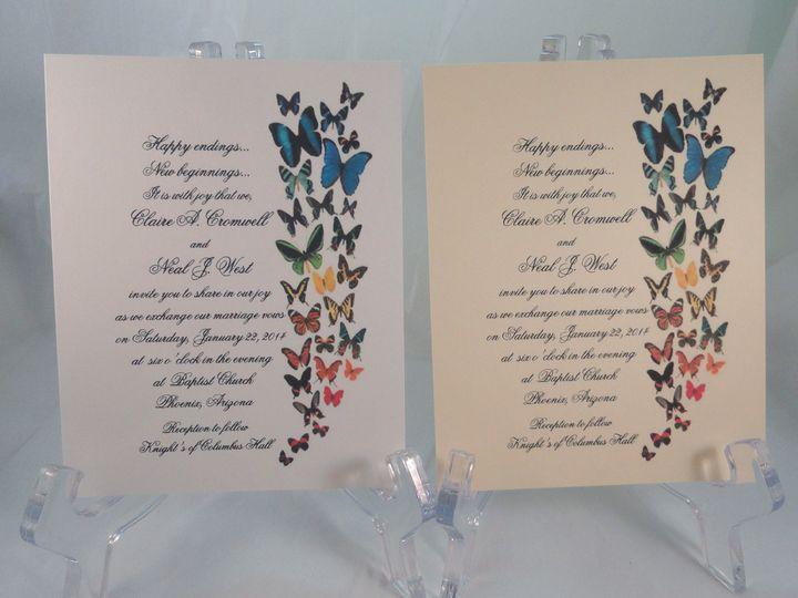 Tmx 1393950725653 Butterflies 2   Cop South Berwick wedding invitation