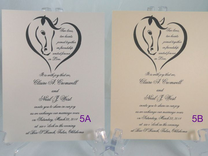 Tmx 1393950905677 Ebay Horse Heart Blac South Berwick wedding invitation