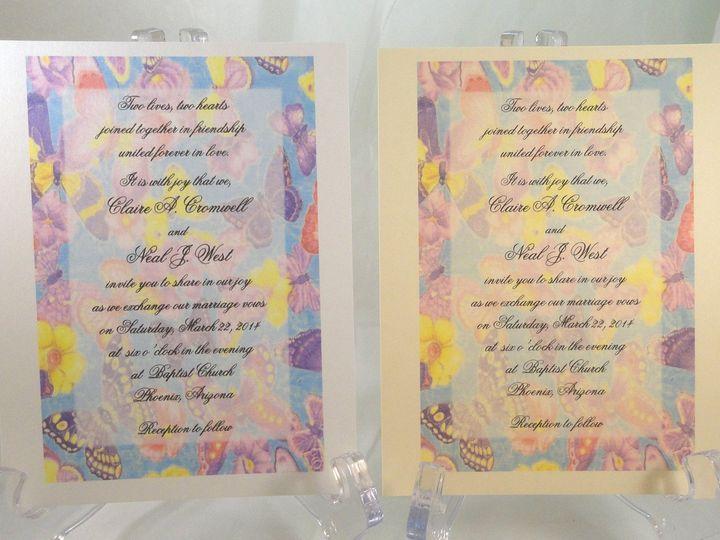 Tmx 1393951165756 Butterfly Backgroun South Berwick wedding invitation