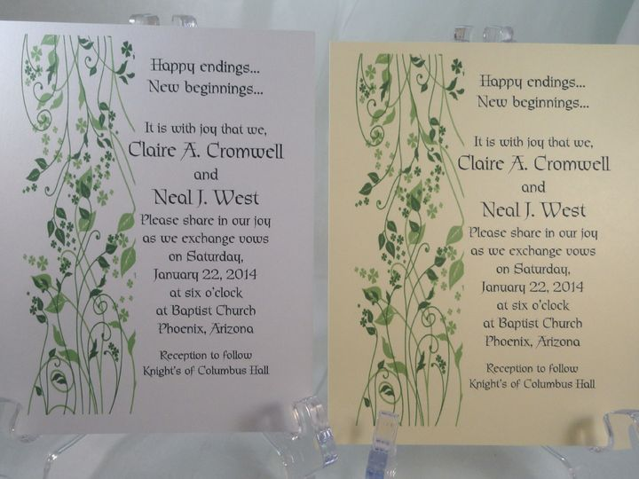 Tmx 1393951233302 Vine Climbing Gree South Berwick wedding invitation