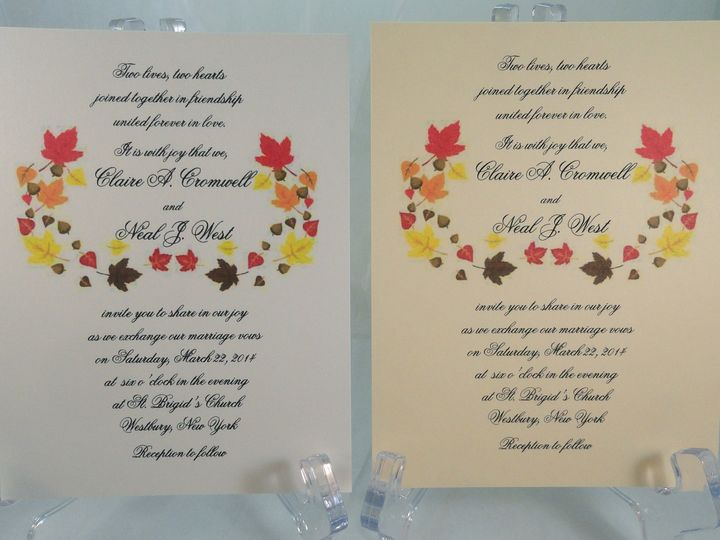 Tmx 1393951256013 Fall Leave South Berwick wedding invitation