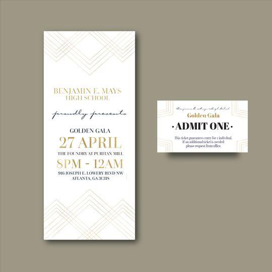 Gala Invitation w/ entry card