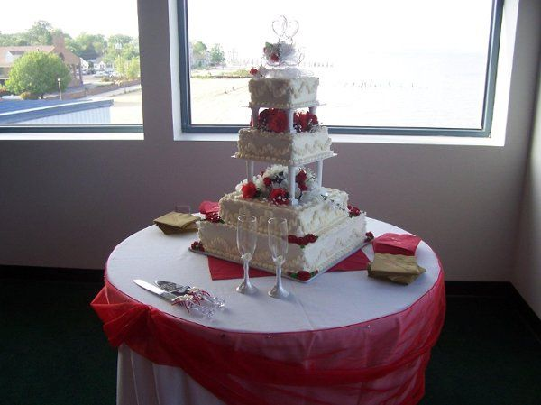 An elegant cake table