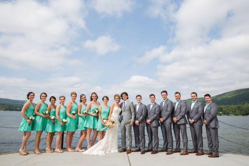 Bridal Party on Lake George