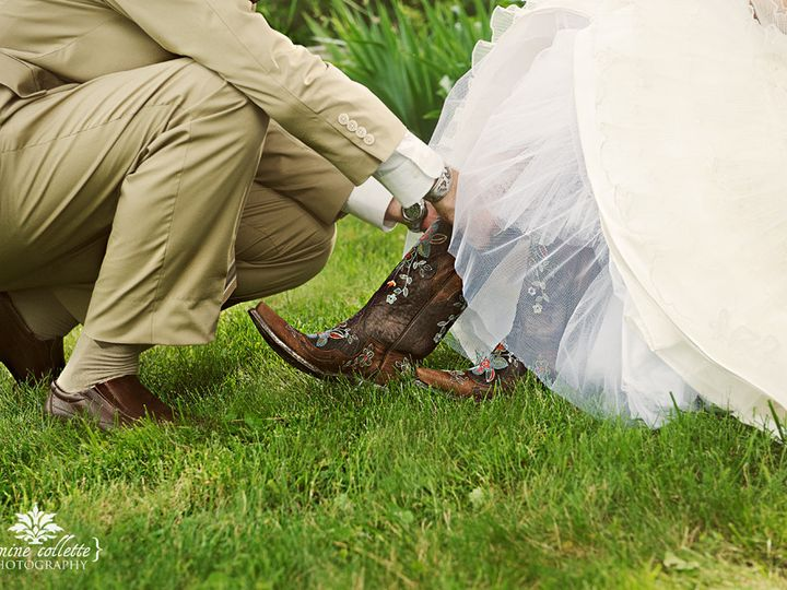 Tmx 1456422481948 Bridge Sandi Putting On Her Boots Bangor, PA wedding venue