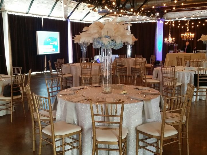 Tmx 1484137502512 White Sequin Tablecloths Silver Shantung Napkins D Dallas, Texas wedding rental