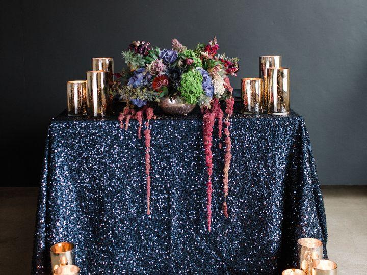 Tmx 1530455893 E4f697f9b30f6c10 Navy Blue Sequin Tablecloths Runners Rentals AM Linen Rental D Dallas, Texas wedding rental
