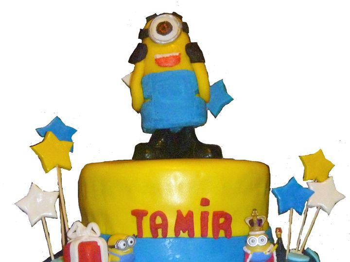 Tmx 1468942020461 Minion Cake Hollis wedding cake