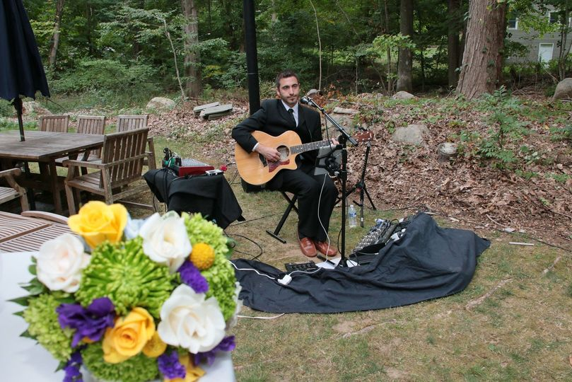 Performing at the wedding