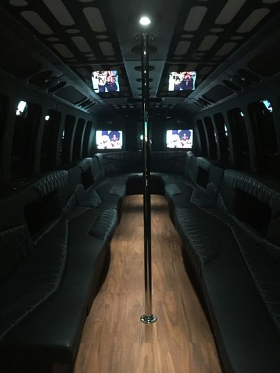 Flat-screen televisions onboard