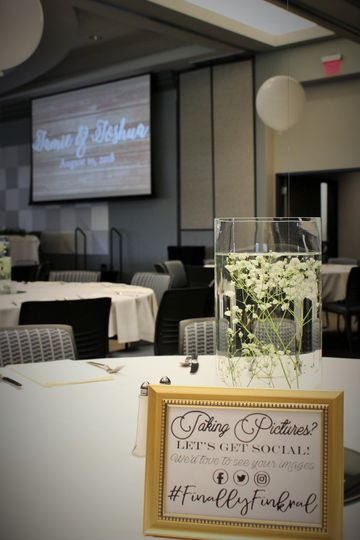 Table card and centerpiece