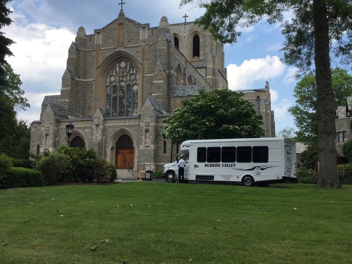 Parked by the church