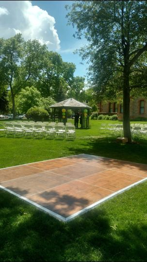 dance floor with ceremony chairs