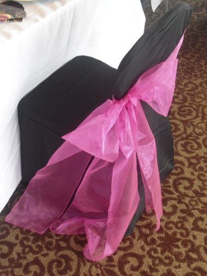 A variety of chair sashes and covers are available for rent !  Sales and specials are available!...