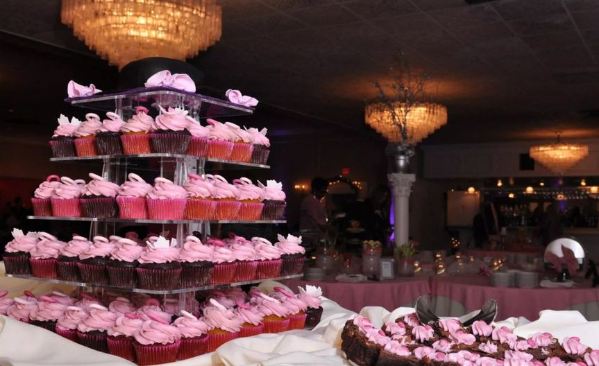 Multiple layered wedding cup cake
