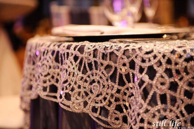 Linen with crystal details