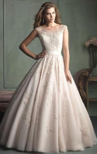 a line vintage long wedding dress hsnal0006 1