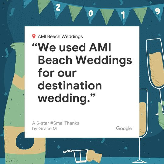 5 star review destination wed