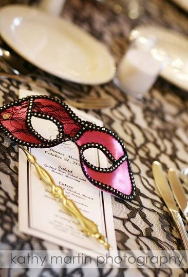Mask and wedding invitation