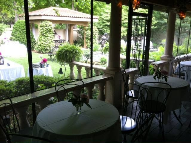 Tables with garden view