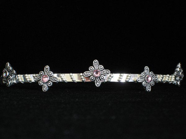 The five diamond pendants shown here are each embedded with a pale pink Swarovski Crystal.   Small...
