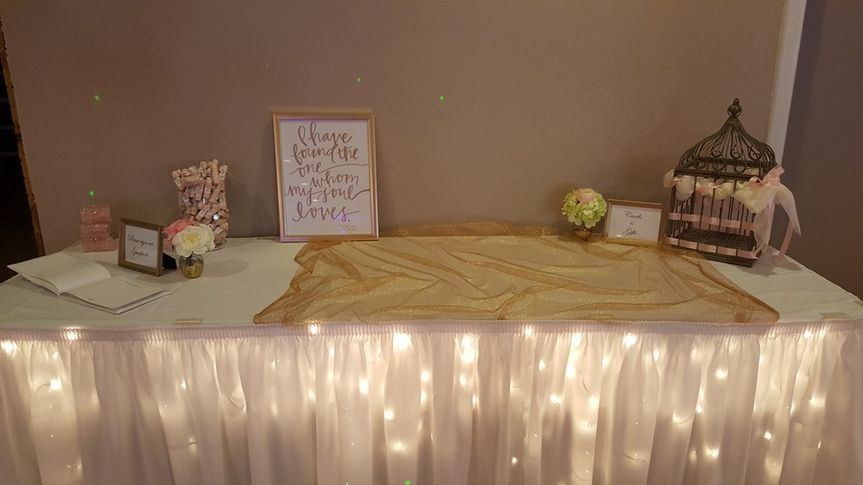 Guest book and gifts table