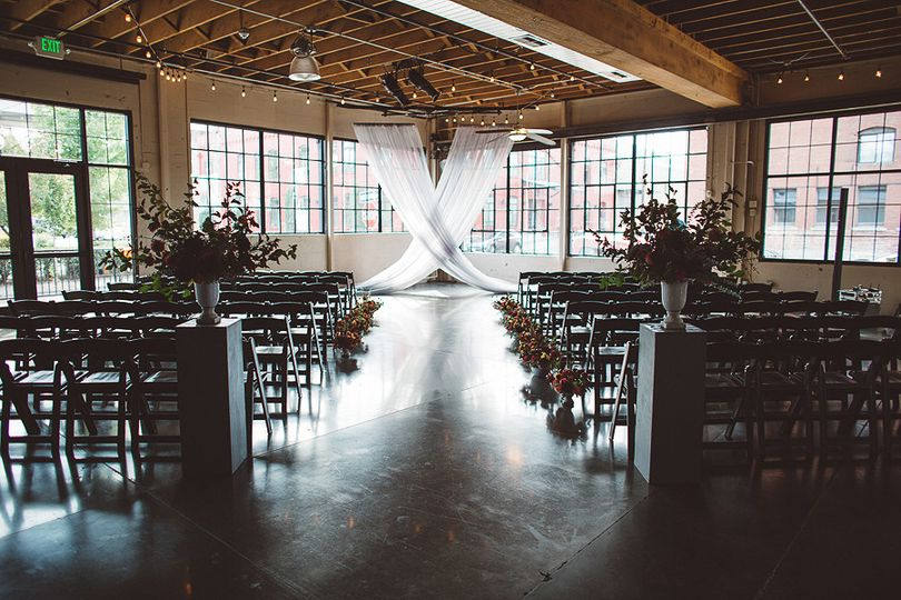 Indoor wedding setup
