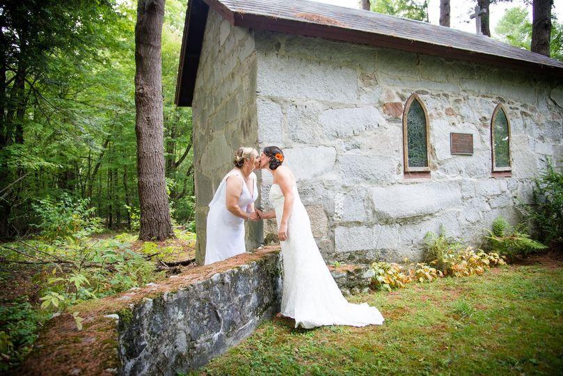 Secret chapel in the woods