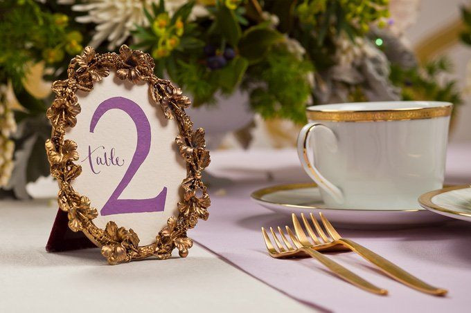 Hand painted table numbers
