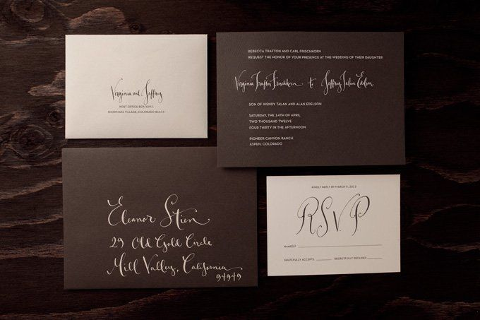 Invitation design, layout and printing.