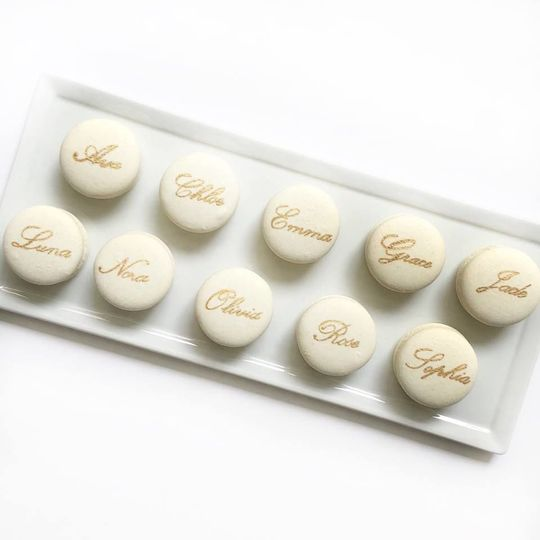 Personalized Named Macaron Wedding Favors