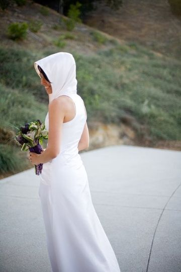 Sleigh Custom Dresses Hooded Wedding Dress
