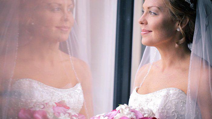 bride artistic shot