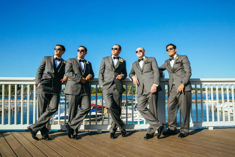 waterpoint lakeside groomsmen chillin