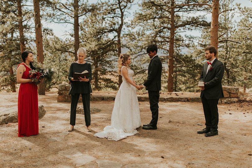 Ceremony in Pines