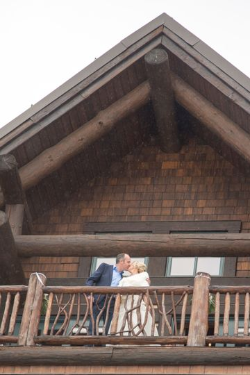 Celebration kiss in vail